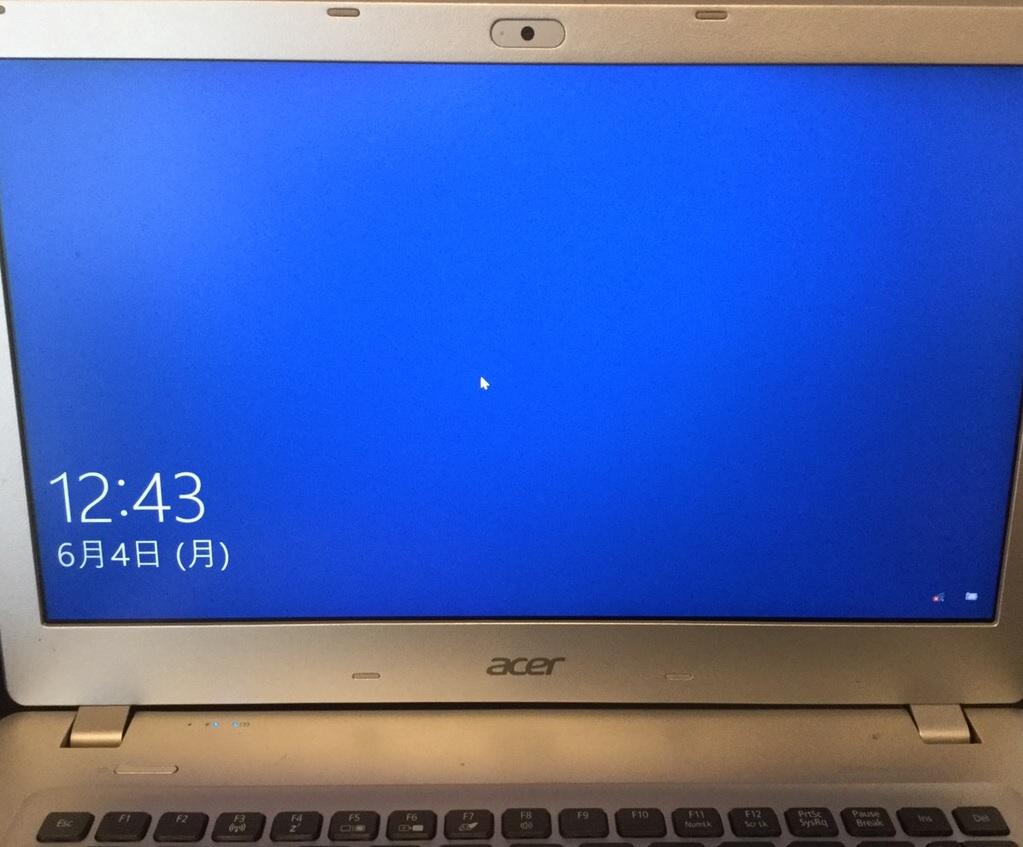 愛知県東海市 ノートパソコンがログイン画面から進まなくなった/Acer Windows 10のイメージ