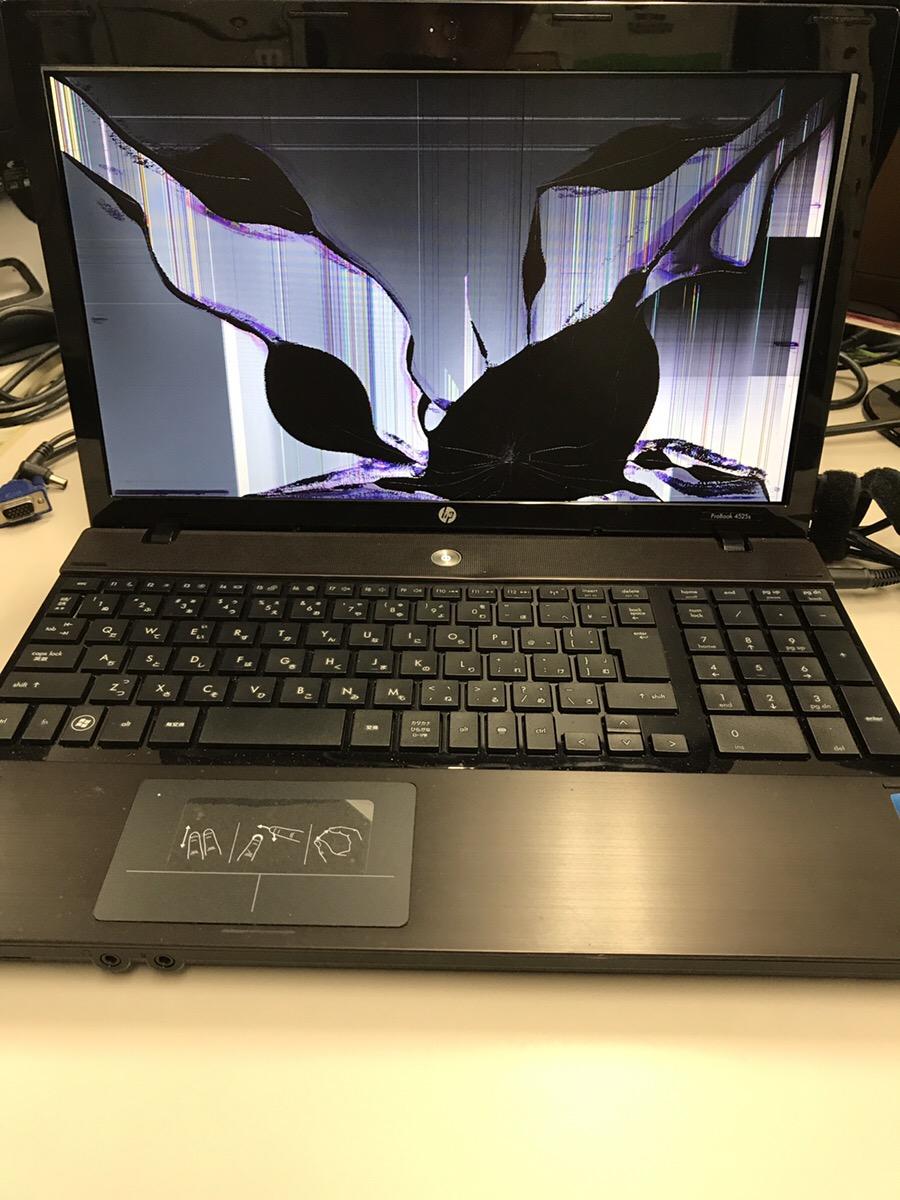 京都府京都市伏見区 ノートパソコンの液晶関連トラブル/HP(ヒューレット・パッカード) Windows 7のイメージ
