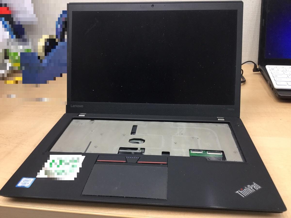 東京都大田区 ノートパソコンのキーボード不具合/レノボ Windows 10のイメージ