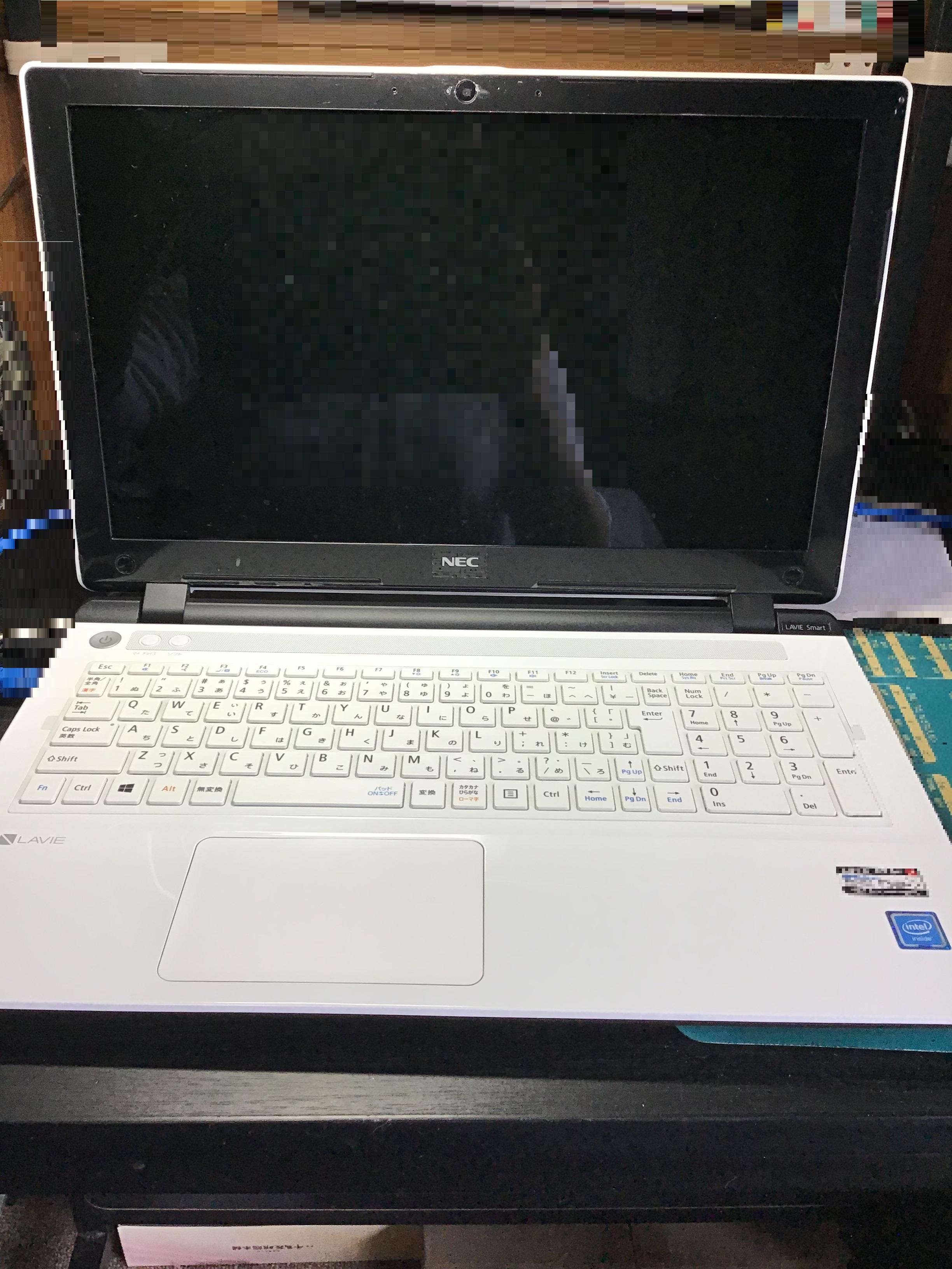 福岡県福岡市早良区 ノートパソコンが起動しない/NEC Windows 10のイメージ
