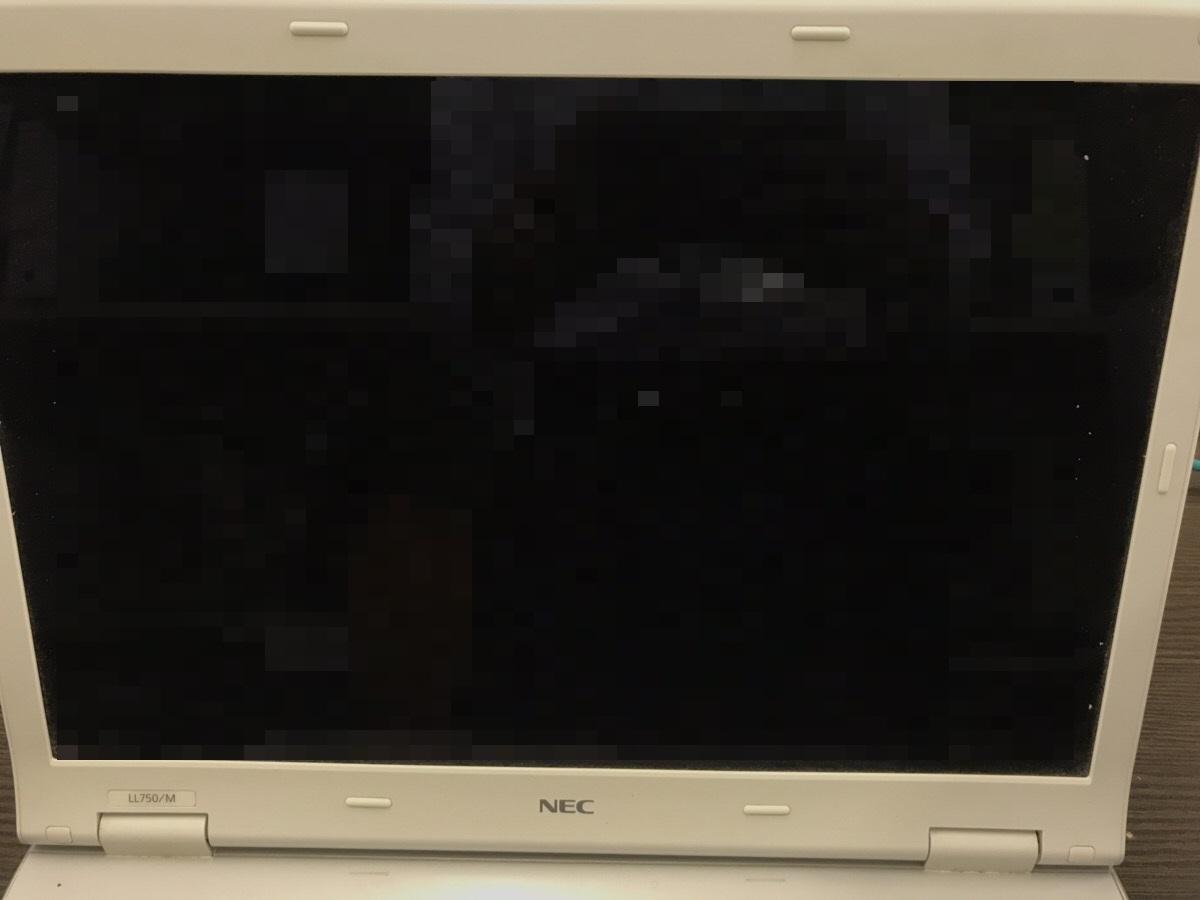 兵庫県神戸市須磨区 ノートパソコンの液晶画面が暗い/NEC Windows 10のイメージ